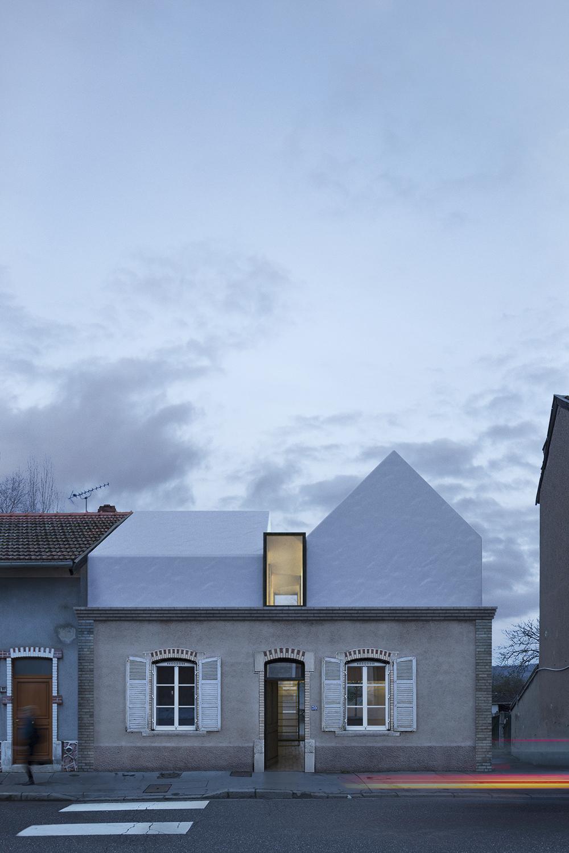 Concours demain j l ve le haut sur l vation d une for Architecture concours